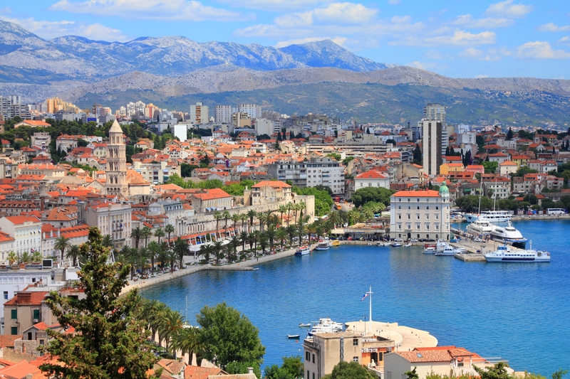 The beautiful City Split on Croatia's Dalmatian Coast